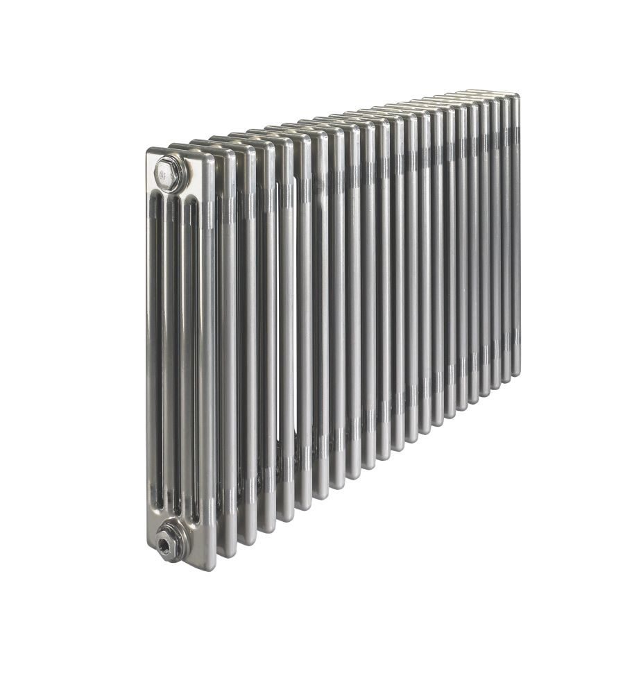 Image of Acova 4-Column Horizontal Designer Radiator 600 x 1226mm Raw Metal