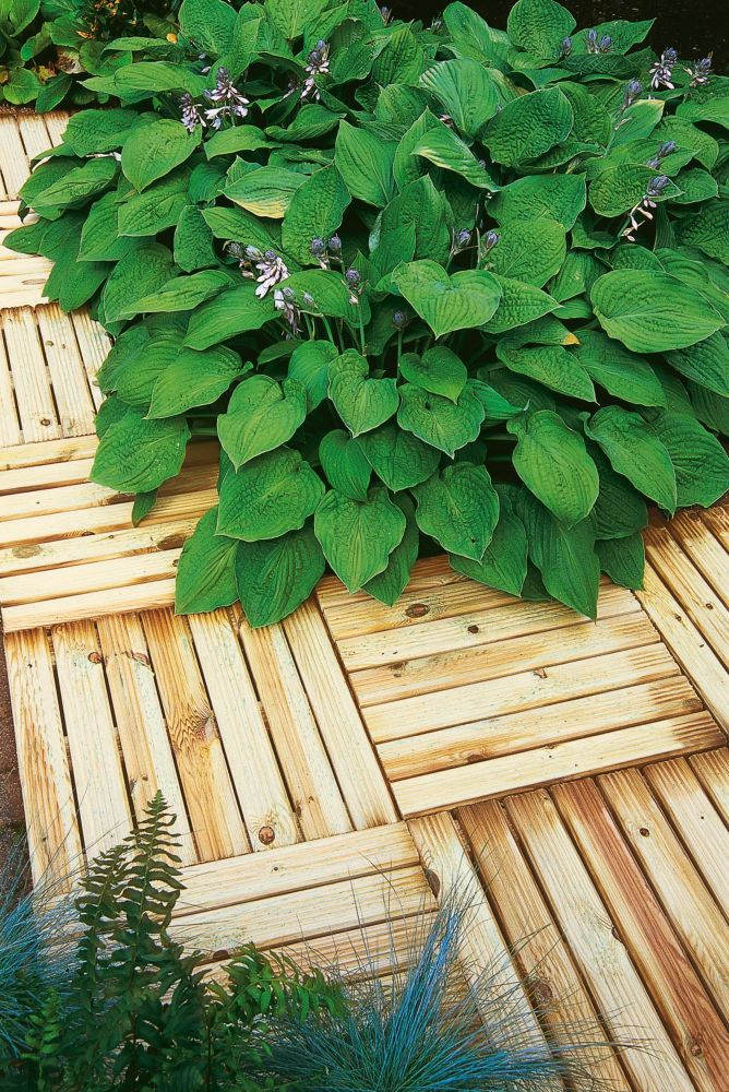 Image of Forest Ridged Tile Decking Kit 0.5 x 0.5 x 0.03m 16 Pack