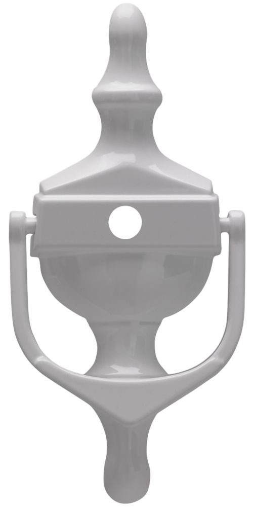 Image of Fab & Fix Classic Door Knocker w/Spyhole White 76 x 162mm