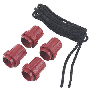 Image of What Knot Knot Replacements & 3.5m Black Rope 70mm x 60mm 5 Piece Set