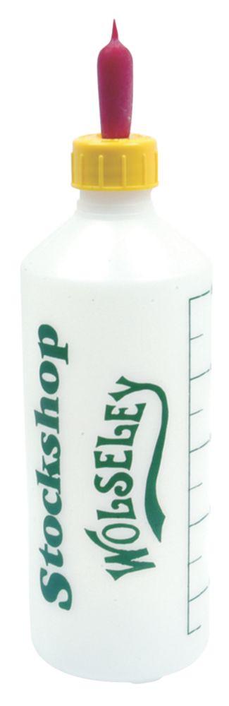 Image of Stockshop Wolseley Lamb Feed Bottle Yellow/Red 500ml
