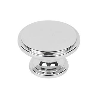 Image of Hafele Modern Cabinet Knob Polished Chrome 38mm