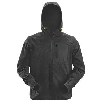 """Image of Snickers FlexiWork Fleece Hoodie Black X Large 46"""" Chest"""