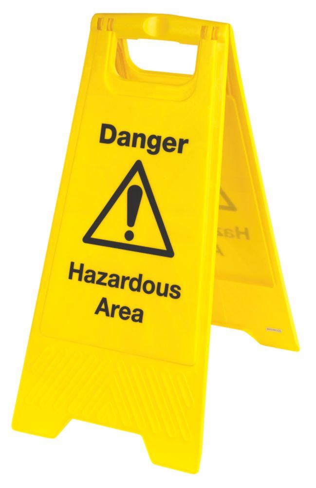 Image of Danger Hazardous Area A-Frame Safety Sign 680 x 300mm