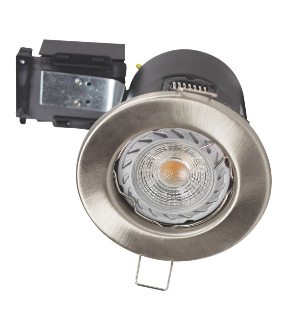Image of Robus Fire Rated Fixed LED Downlight IP20 Brushed Chrome 3.5W