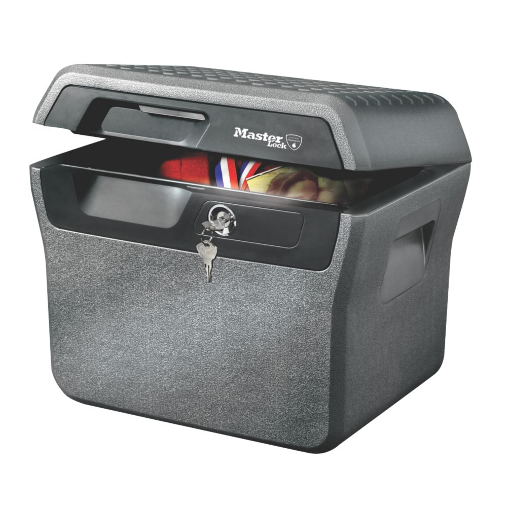Image of Master Lock 18.6Ltr Waterproof Fire Chest 421 x 351 x 359mm