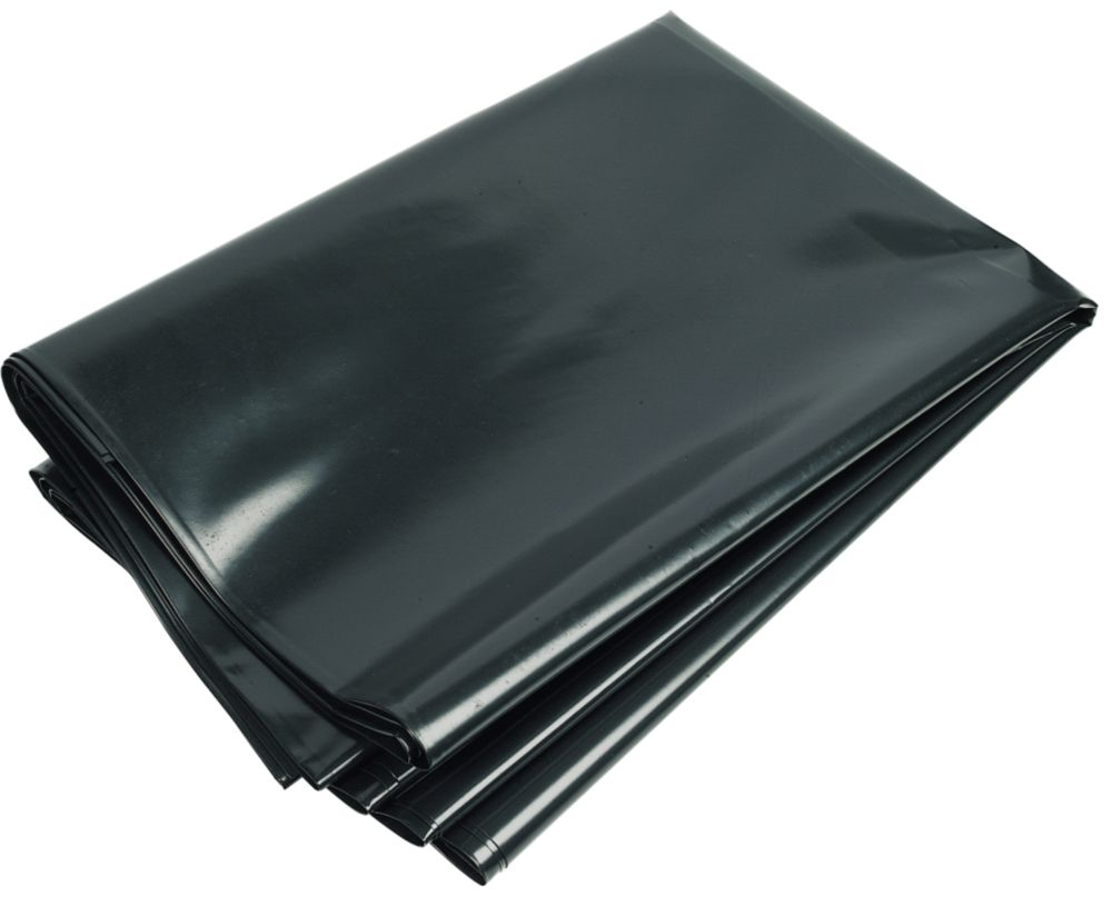 Image of Capital Valley Plastics Ltd Damp-Proof Membrane Black 1000ga 4 x 3m