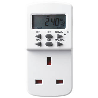 Image of Masterplug Digital Programmable 7-Day Timer 240V