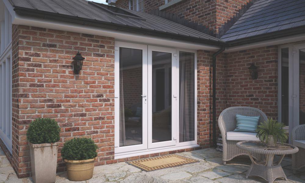 Image of ATT uPVC French Doors & Sidelight White 2090 x 2090mm