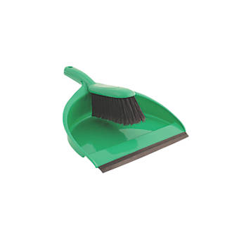 Image of Bentley Dustpan & Brush Soft Green 5 Pack