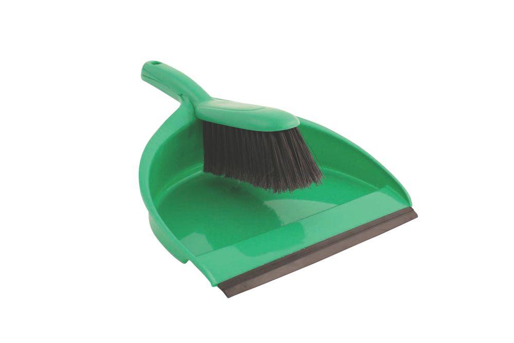 Image of Bentley Dustpan & Brush Soft Green 5 Pack