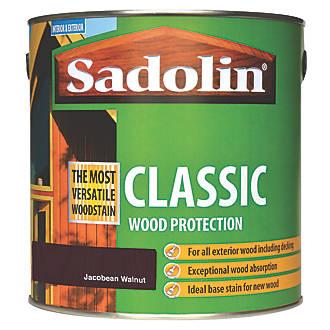 Image of Sadolin Classic Woodstain Matt Jacobean Walnut 2.5Ltr