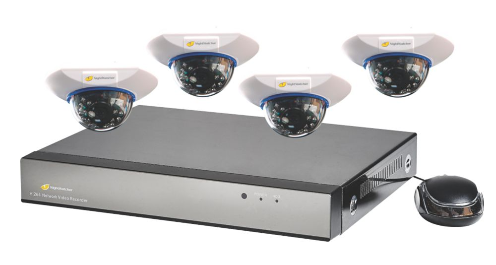 Image of Nightwatcher NW-8NVR-2TB-C720-4D 8-Channel CCTV NVR Kit with 4 Cameras
