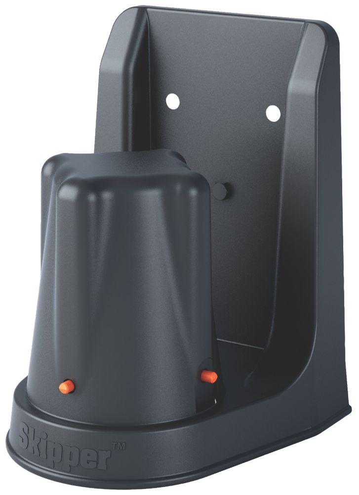 Image of Skipper Retractable Barrier Magnetic Support Bracket Black