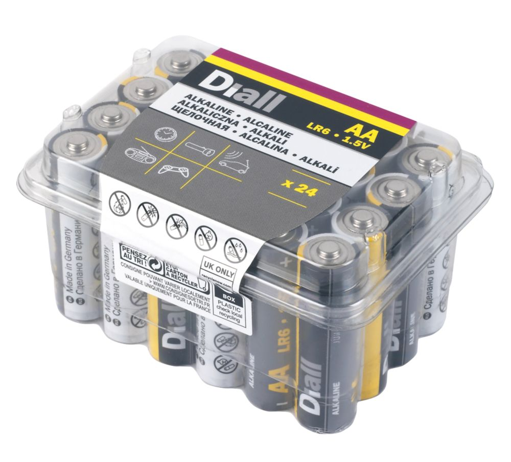 Image of Alkaline AA Batteries 24 Pack