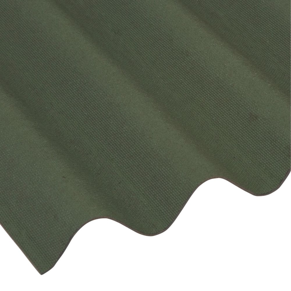 Image of Coroline Corrugated Roofing Sheet Green 2000 x 950mm