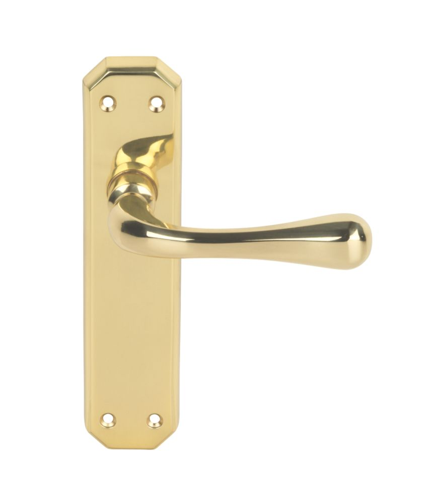 Image of Carlisle Brass Latch Door Handle Pack Polished Brass