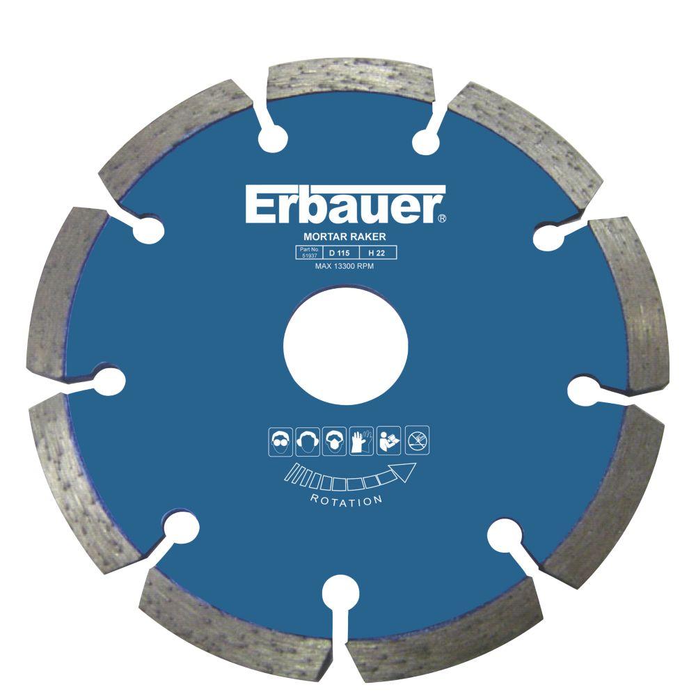Image of Erbauer Mortar Rake Soft/Abrasive 115 x 22.23mm