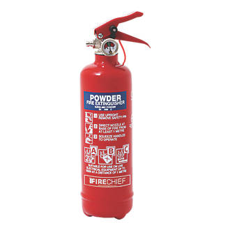 Image of Firechief 100-1051 Dry Powder Fire Extinguisher 600g 24 Pack