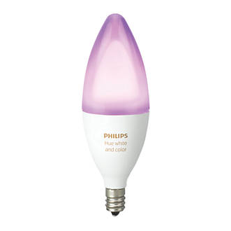 Image of Philips Hue Colour LED Candle SES Smart Candle Light Bulb Colour-Changing 6.5W 450Lm