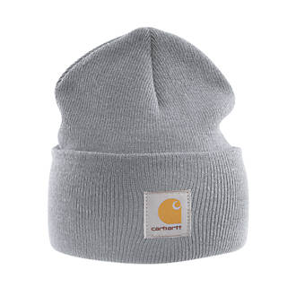 Image of Carhartt A18 Beanie Hat Heather Grey