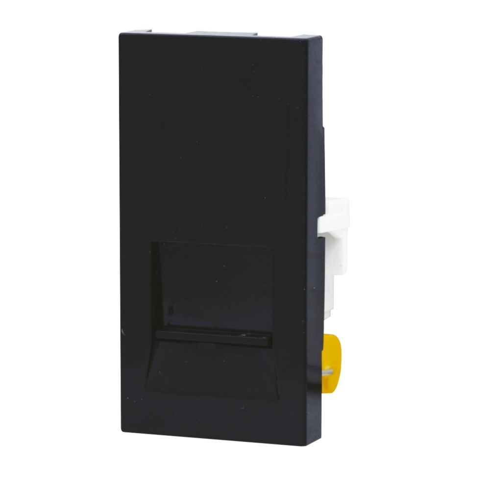Image of LAP 1-Gang Slave Telephone Grid Module Black