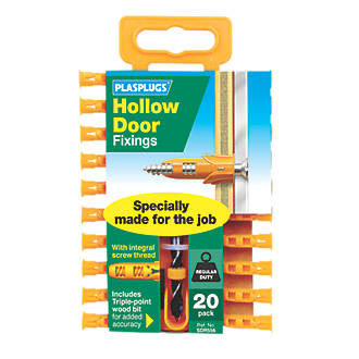 Image of Plasplugs Hollow Door Fixings 6 x 20 Pack