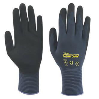 Image of Towa Activgrip Advance Nitrile Palm-Coated Gloves Purple Large