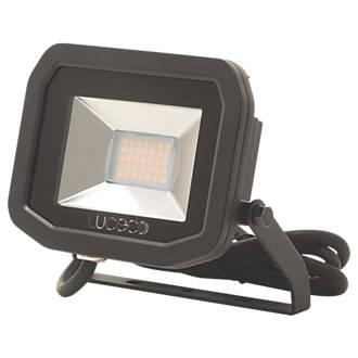 Image of Luceco LFS12B130 LED Slim Floodlight 15W Black Warm White