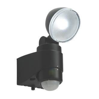 Image of Saxby Laryn LED Floodlight & PIR Black 1 x 2W Daylight