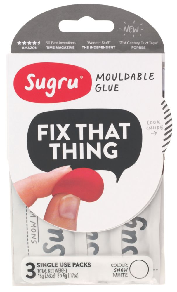 Image of Sugru Mouldable Glue White 3 Pack