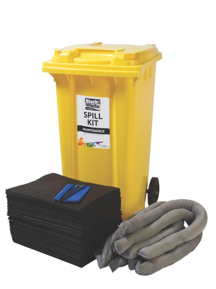 Image of Lubetech 240Ltr Black & White Maintenance Spill Response Kit