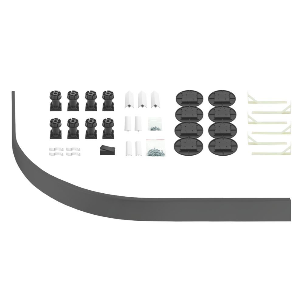 Image of The Shower Tray Company Universal Quad Easy Plumb Kit Grey 34 Pcs