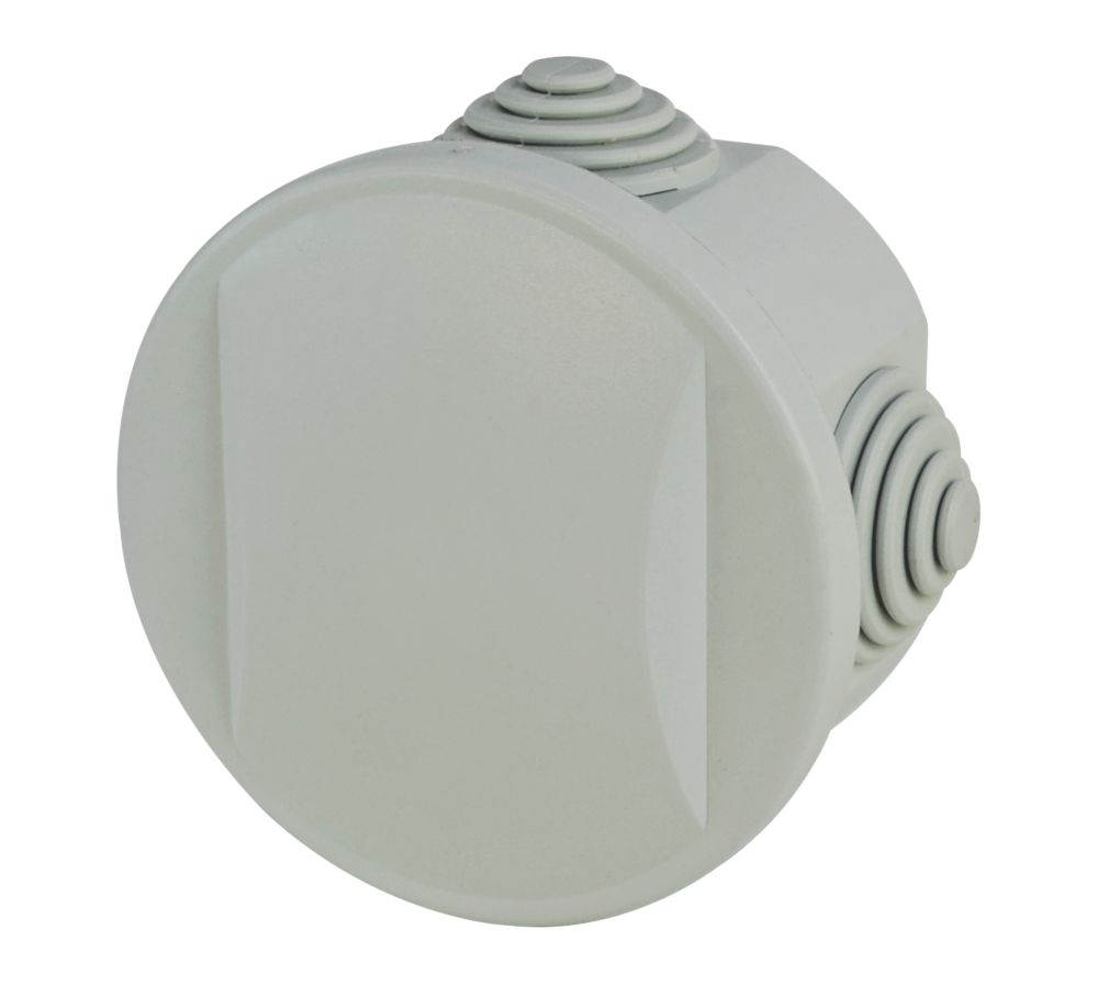 Image of Round 4-Terminal Junction Box with Knockouts Grey 65mm