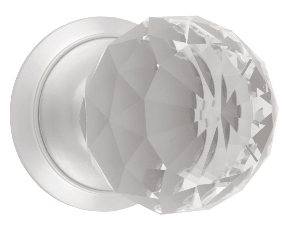 Image of Dempsey & Locke Unsprung Glass Mortice Knobs Pair 65mm