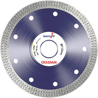 Image of Marcrist CK650 Tile Cordless Angle Grinder Diamond Tile Blade 115 x 22.23mm