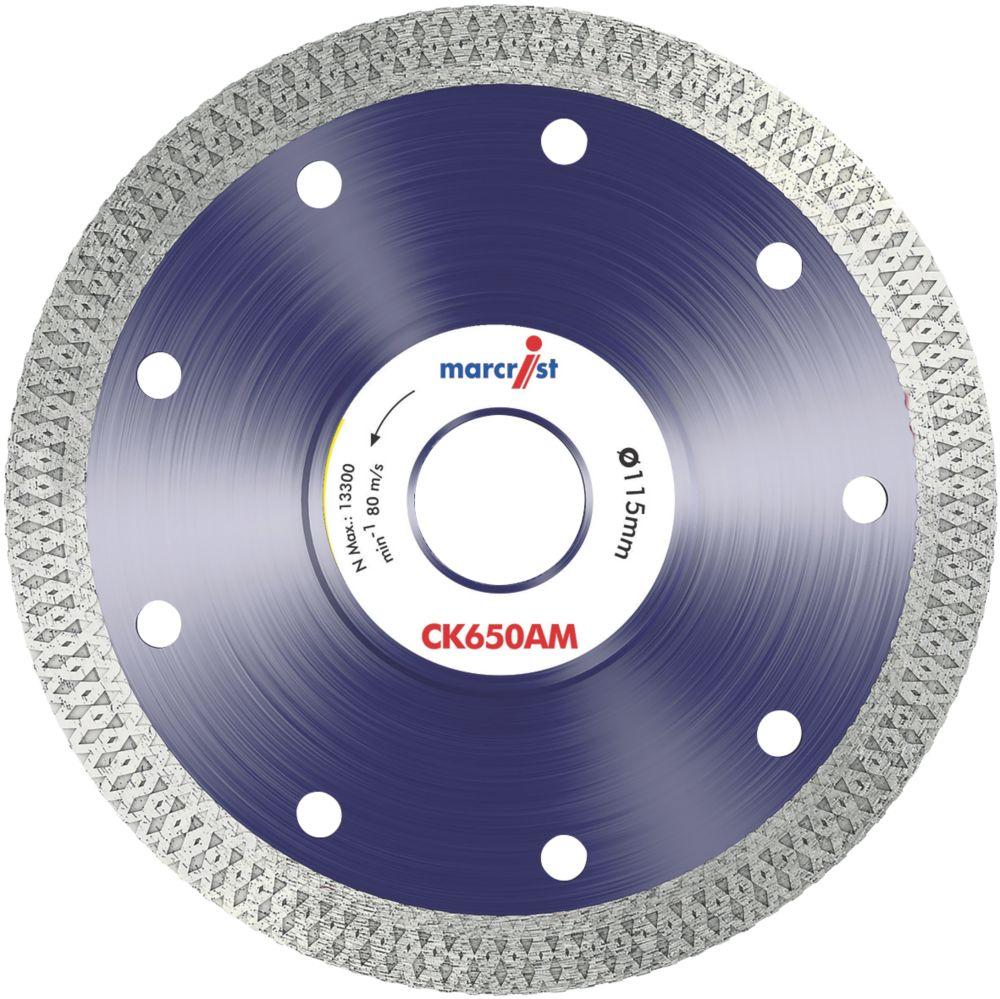 Image of Marcrist CK650 Cordless Angle Grinder Diamond Tile Blade 115 x 22.23mm