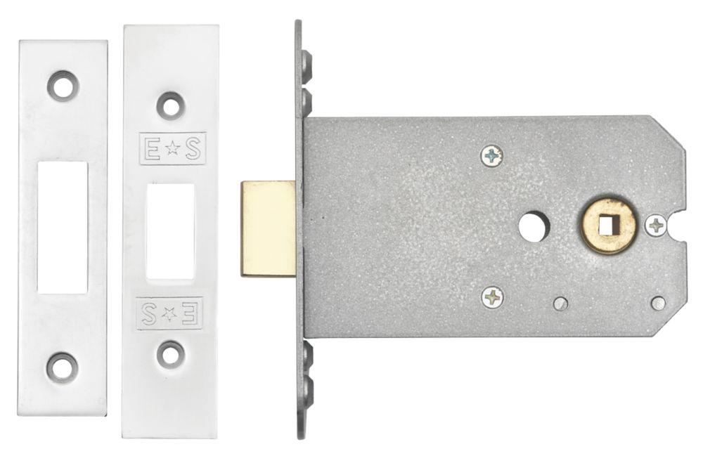 Image of Eurospec Flat Mortice Latch Satin Chrome 102mm