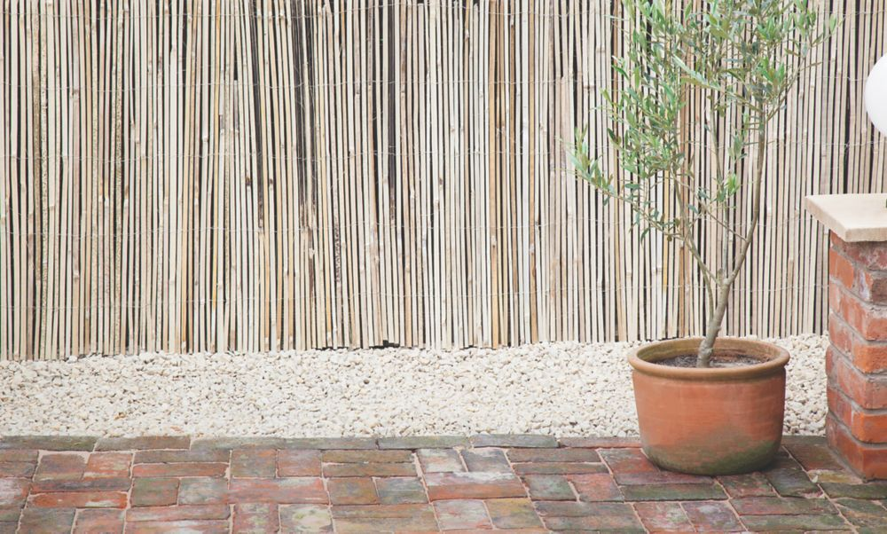 Image of Apollo Natural Timber Split Full Bamboo Garden Screen 2 x 4m