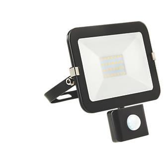 Image of Brackenheath iSpot LED PIR Slim Floodlight Black 20W Cool White