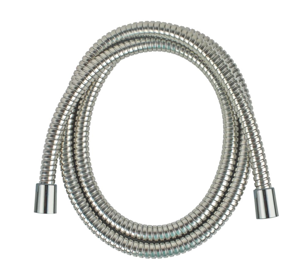 Image of Moretti Extendable Stainless Steel Shower Hose Flexible Chrome 9mm x 1.5-1.75m