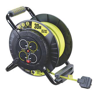 Image of PRO XT OATFU30134SL 13A 4-Gang 30m Cable Reel 240V
