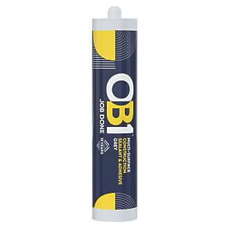Image of OB1 Multi-Surface Sealant & Adhesive Grey 290ml