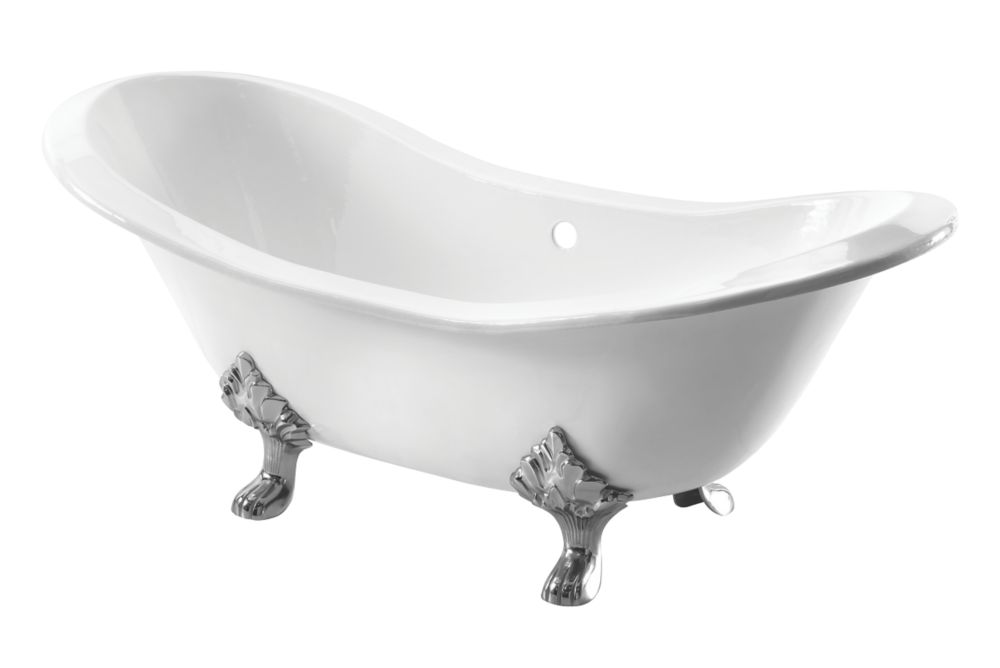 Image of Arroll Double-Ended Bath Cast Iron No Tap Holes 1829mm