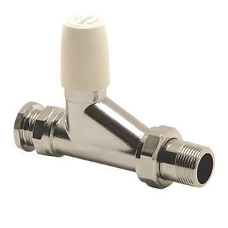 Image of Pegler 98CPLS Chrome / White Straight Lockshield 22mm