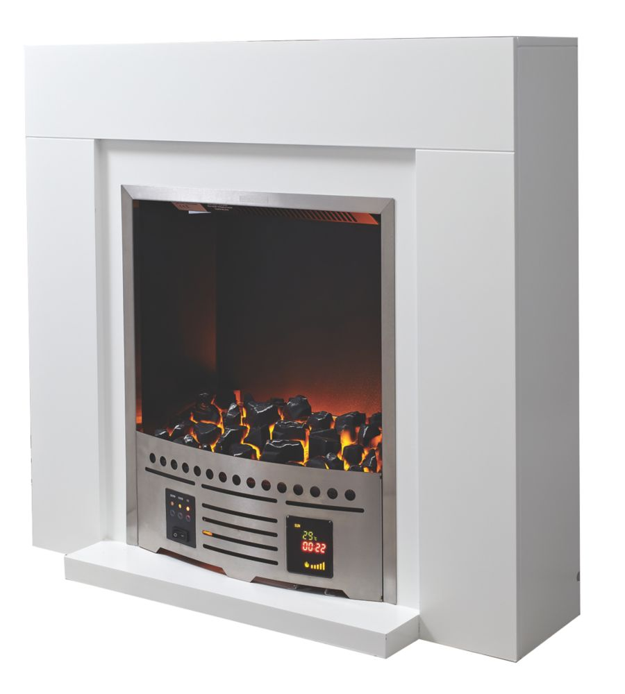 Image of Blyss Beccles Electric Fireplace Suite White
