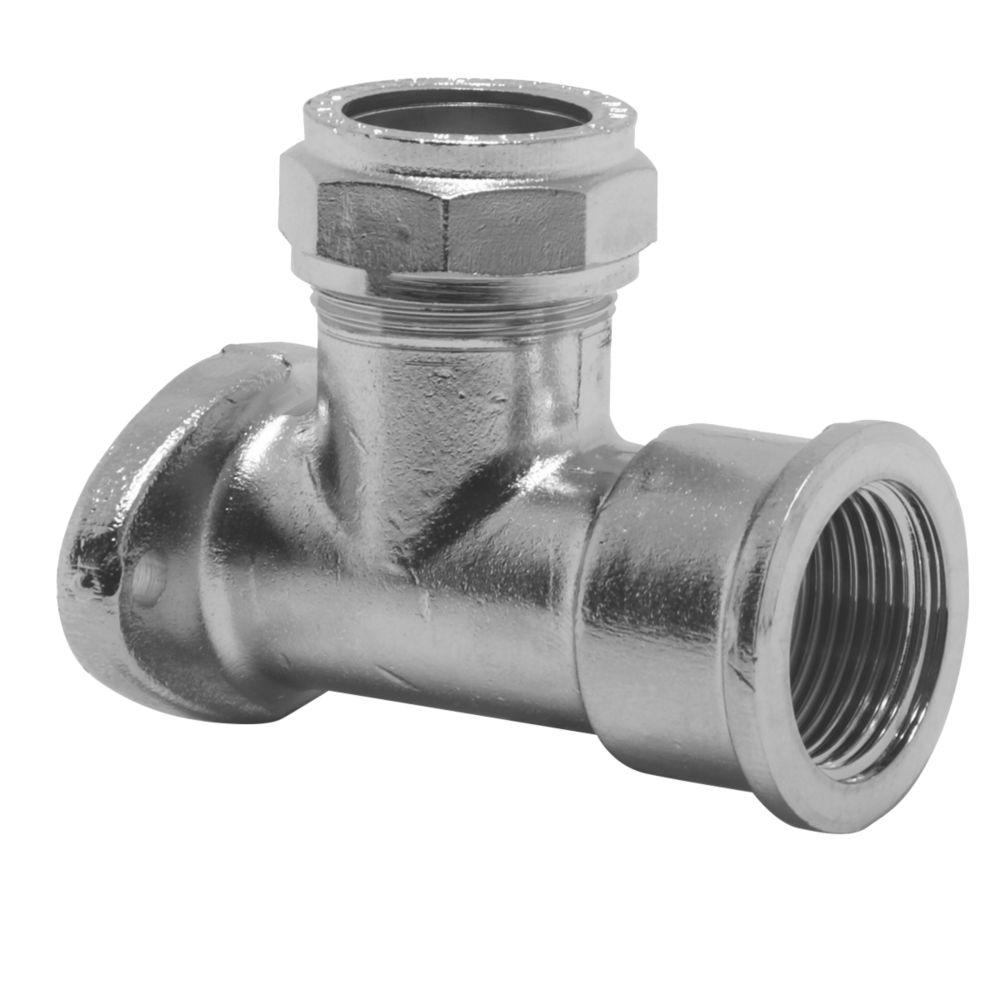 Image of Pegler PX58XCP Wall Plate Elbow 15mm x 12mm