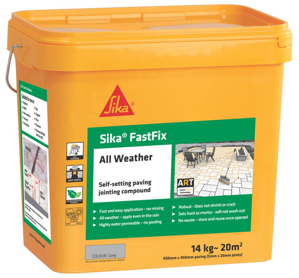 Image of Sika Fast Fix All-Weather Self-Setting Joint Compound Grey 14kg