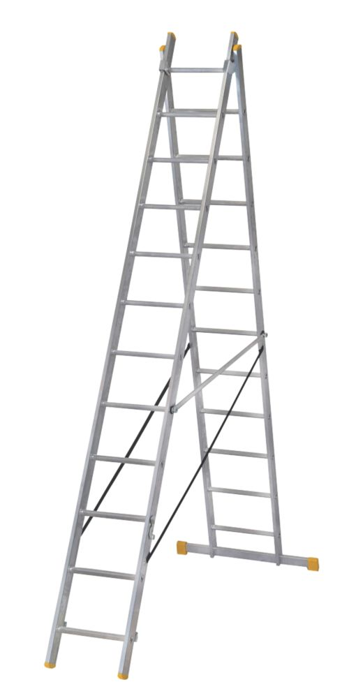 Image of ExtensionPLUS X3 Aluminium Combination Ladder 2 x 12 Rungs 6.04m