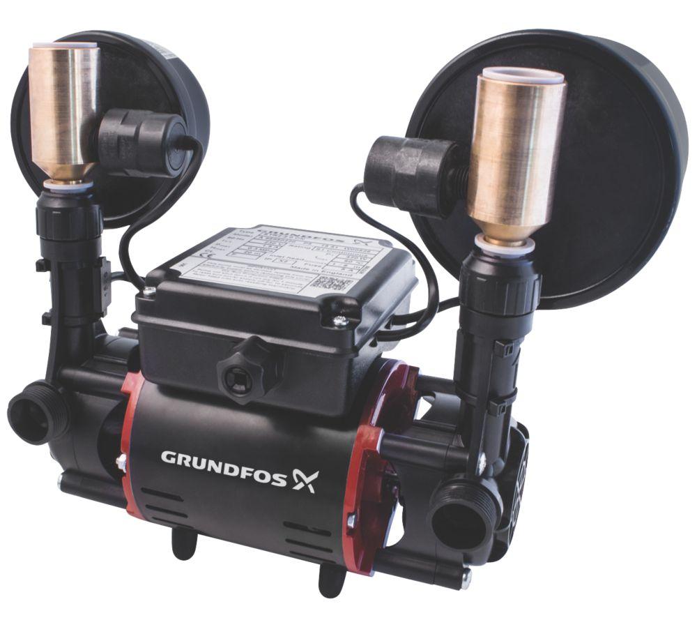 Image of Grundfos 98950220 Regenerative Twin Shower Pump 2.0bar